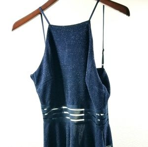 City Studio Womans Dress Small Blue Backless strap
